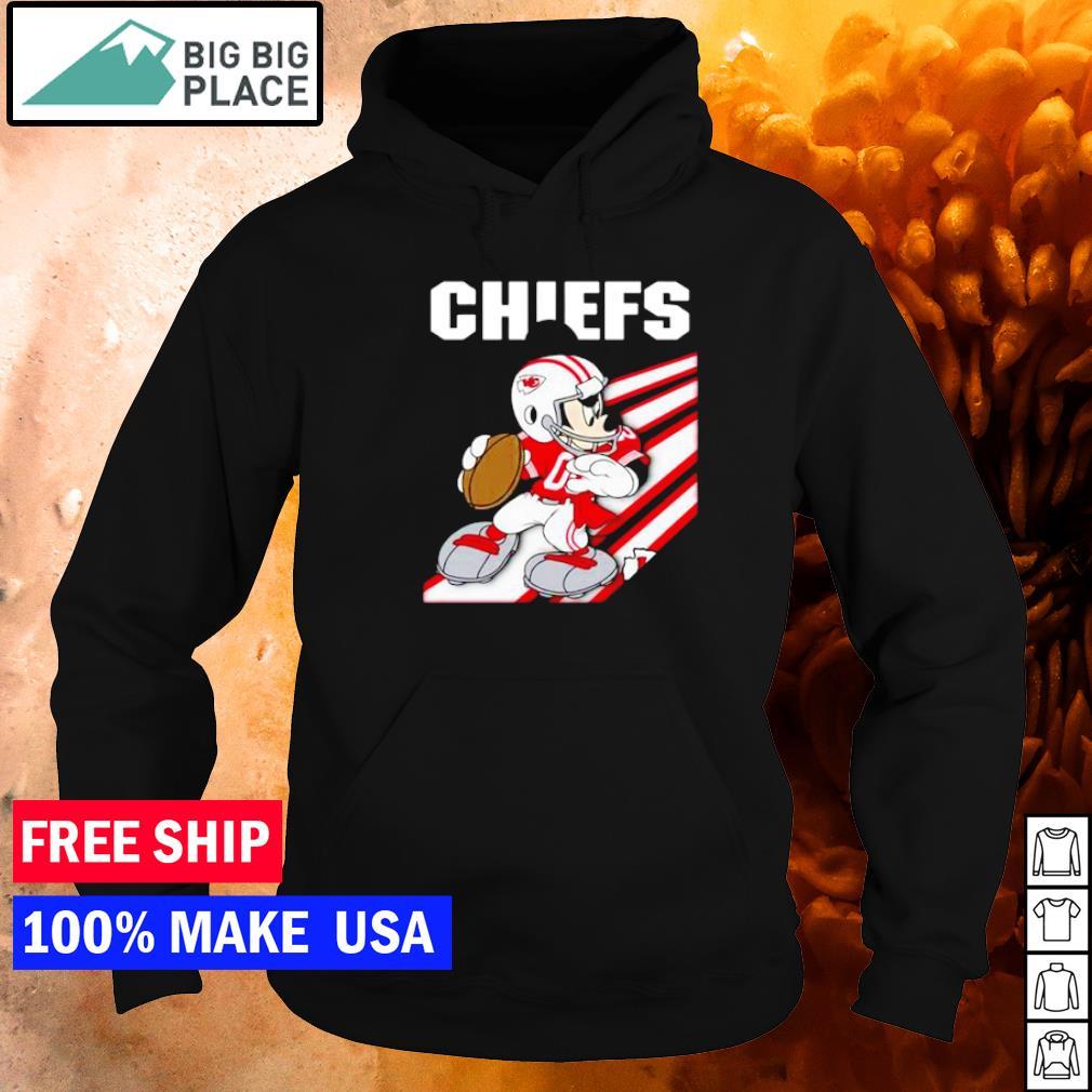 Mickey Mouse Kansas City Chiefs play football s hoodie