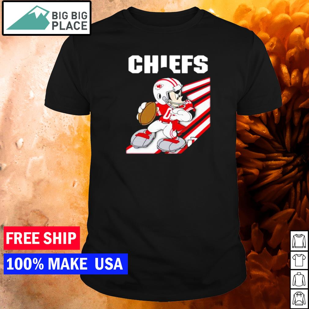 Mickey Mouse Kansas City Chiefs play football shirt