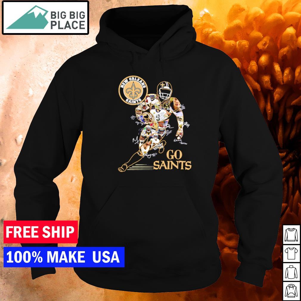 New Orleans Saints Go Saints player's signature s hoodie