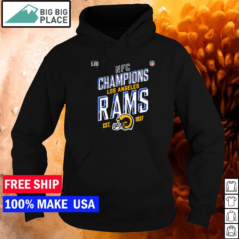 NFC Champions Los Angeles Rams est 1937 logo s hoodie