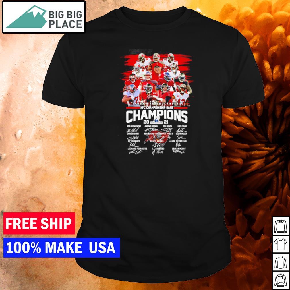 NFC Championship Game 2021 Tampa Bay Buccaneers signature shirt
