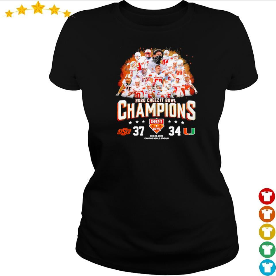 Oklahoma State 2020 cheez it bowl champions s ladies tee