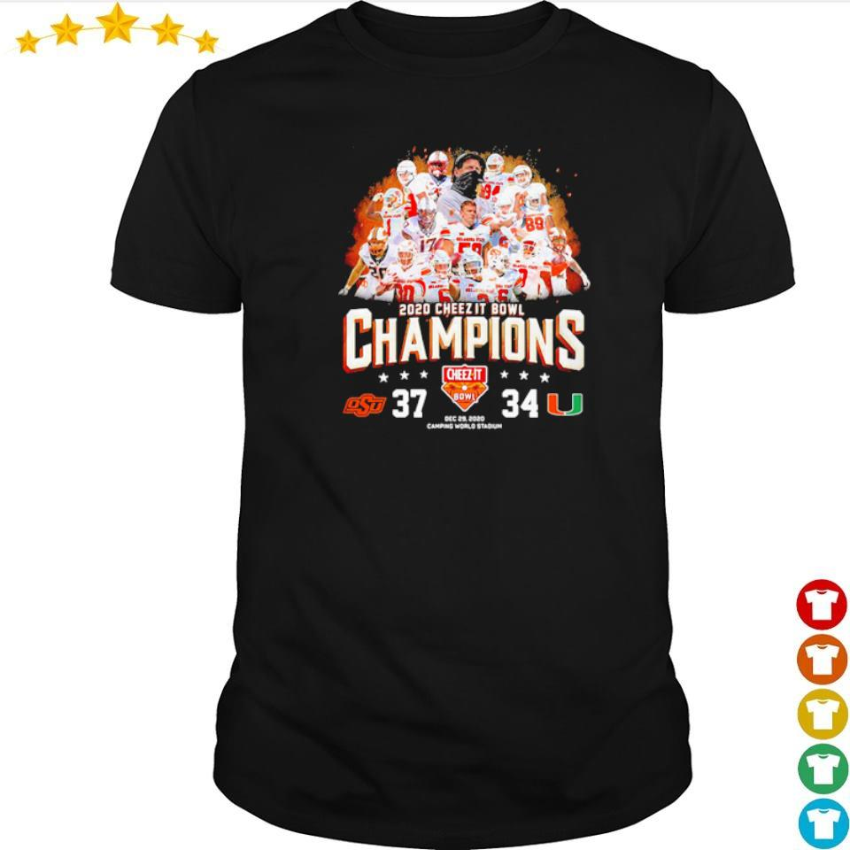Oklahoma State 2020 cheez it bowl champions s shirt