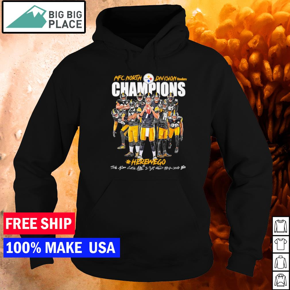Pittsburgh Steelers herewego AFC North Division Champions signature s hoodie