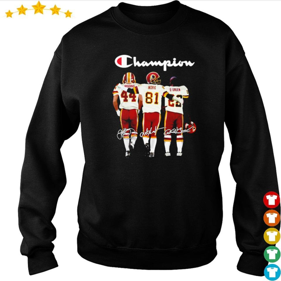 Redskins Riggins Monk D Green champion signature shirt