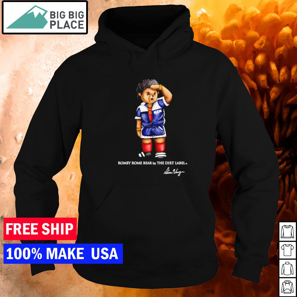 Romey Rome bear by the dirt label signature s hoodie