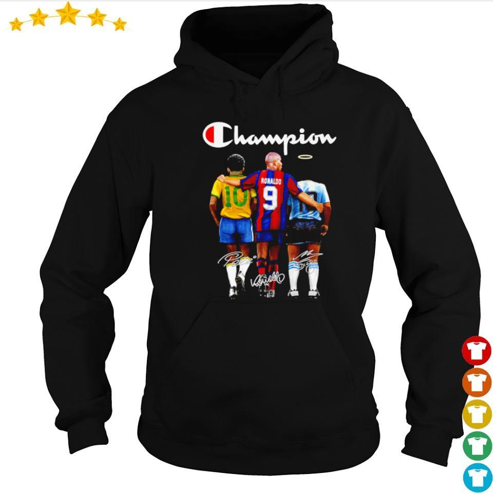 Ronaldo Pele and Diego Maradona champion signature s hoodie