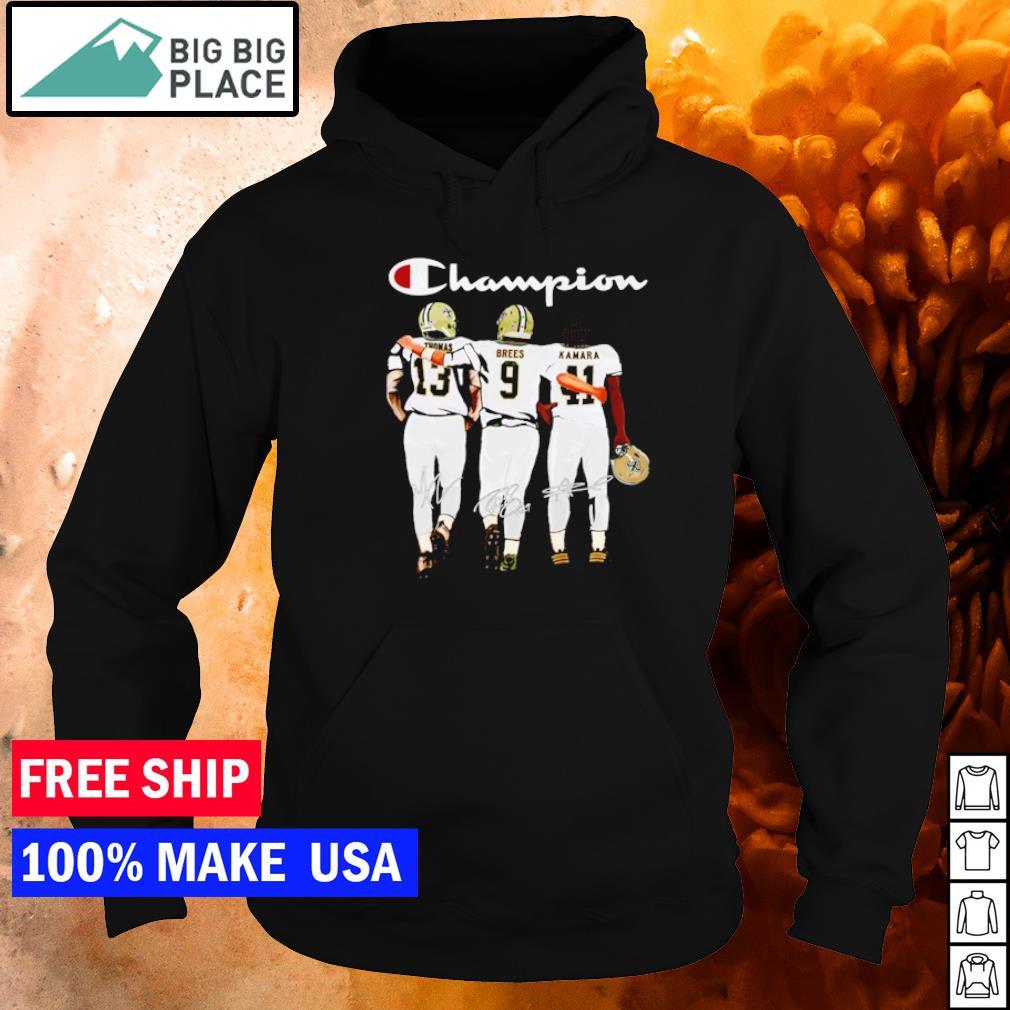 Saint Orleans Saints Thomas Brees Kamara champion signature s hoodie