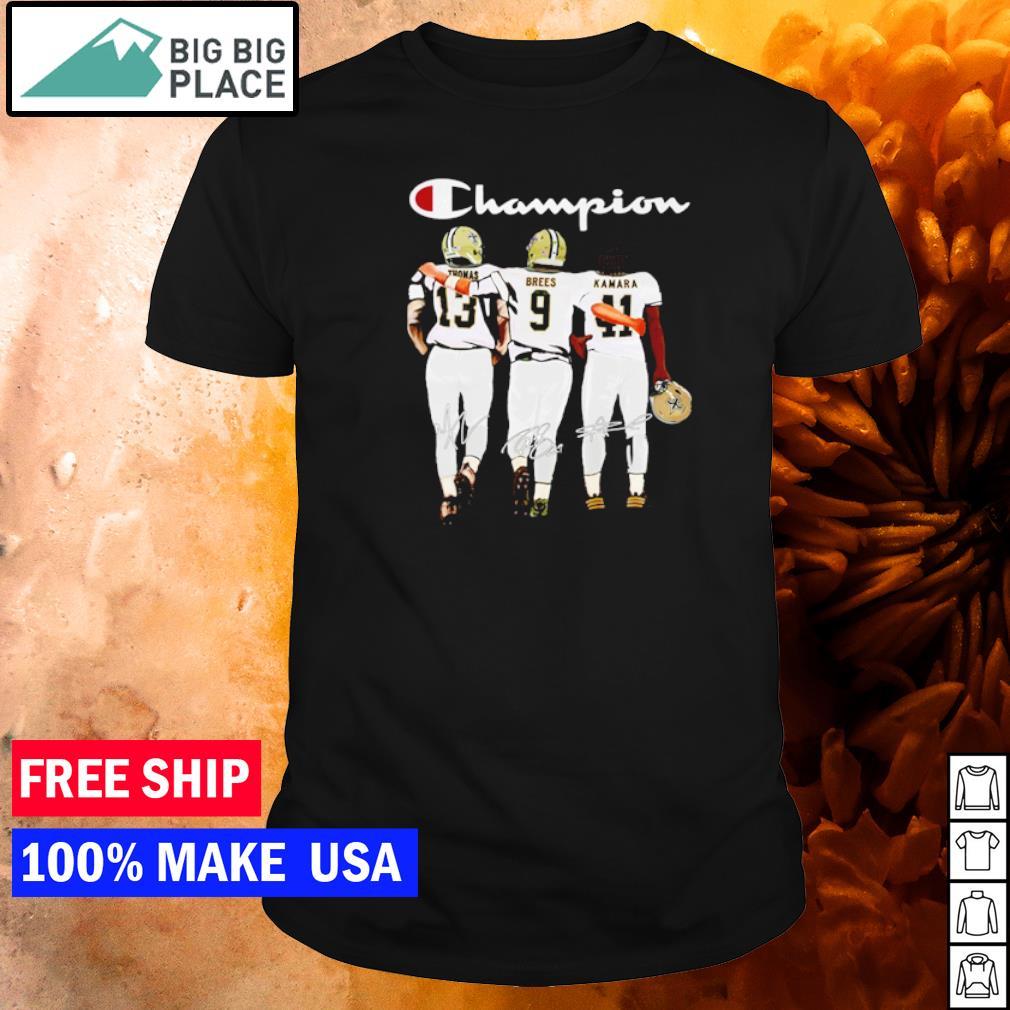 Saint Orleans Saints Thomas Brees Kamara champion signature shirt