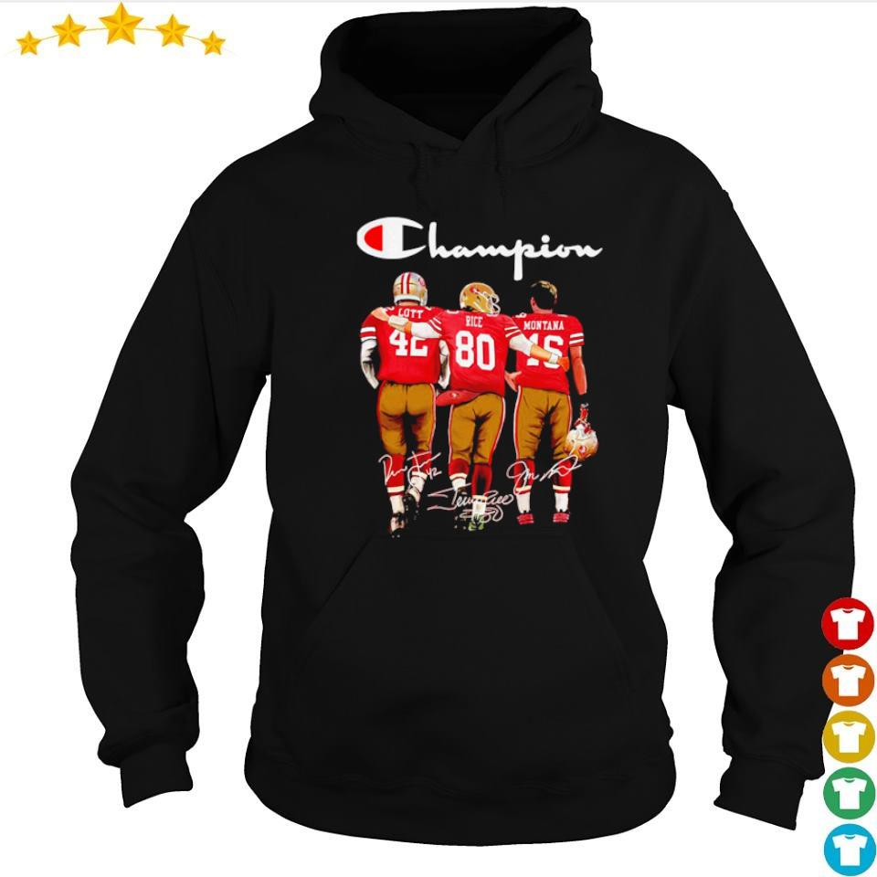 San Francisco 49ers Lott Rice Montana signature Champion s hoodie