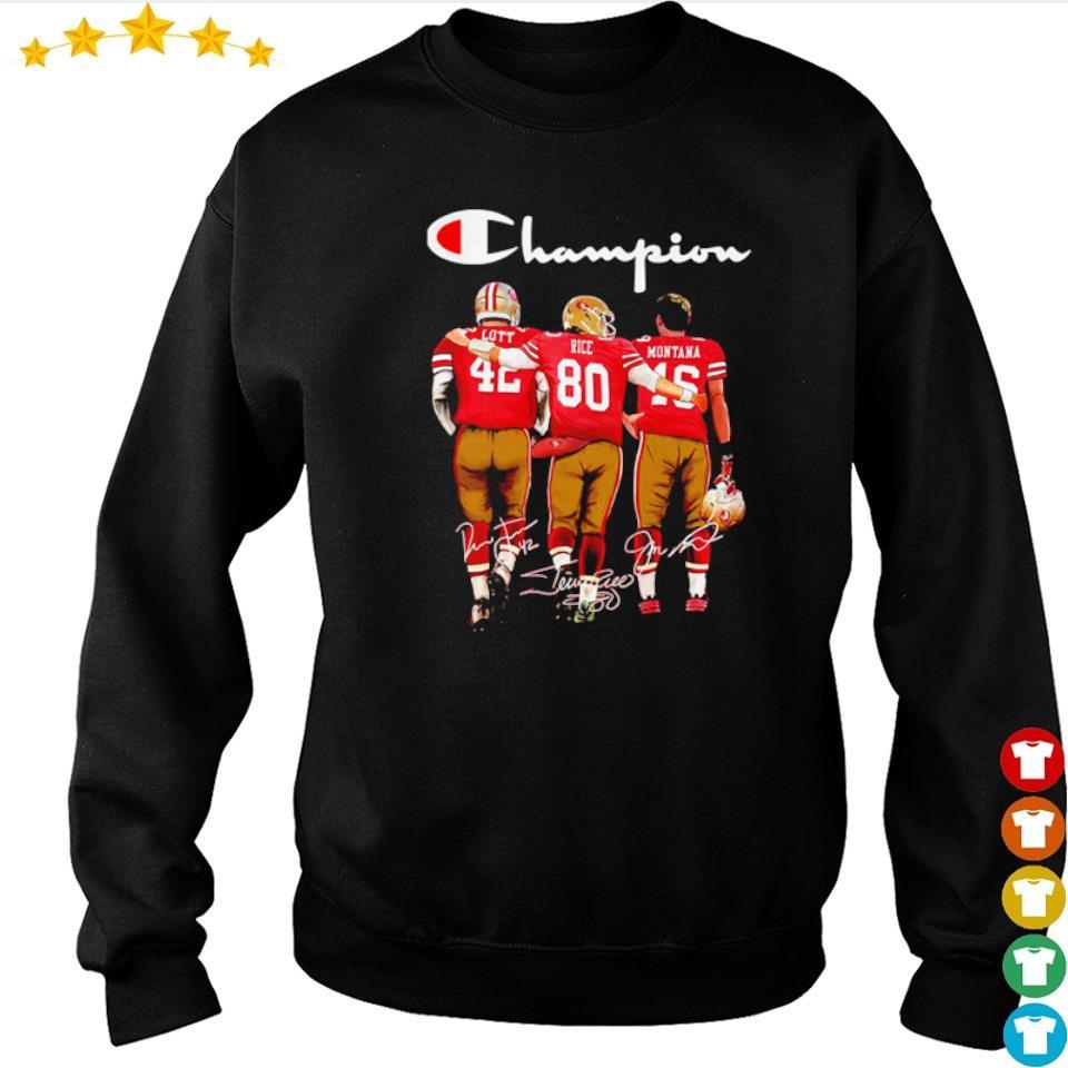 San Francisco 49ers Lott Rice Montana signature Champion s sweater