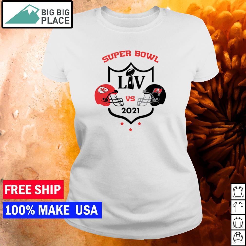 Super Bowl LIV Kansas City Chiefs vs Tampa Bay Buccaneers 2021 s ladies tee
