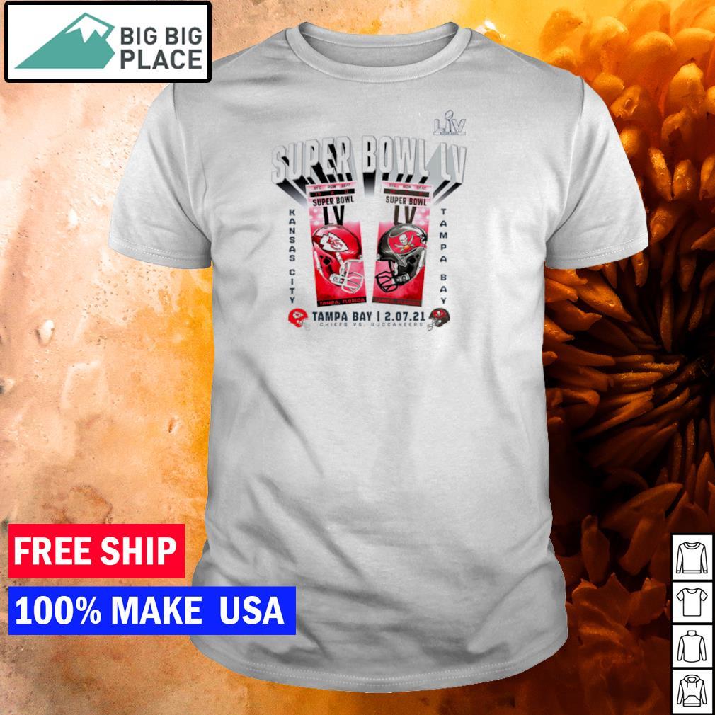 Super Bowl LIV Tampa Bay Buccaneers vs Kansas City Chiefs feburary 07 2021 shirt