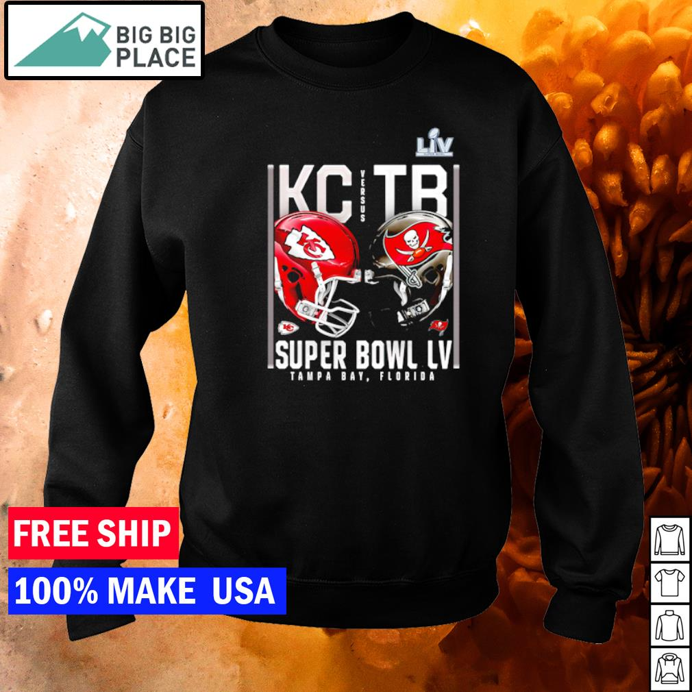 Super Bowl LV Matchup Kansas City Chiefs vs Tampa Bay Buccaneers s sweater