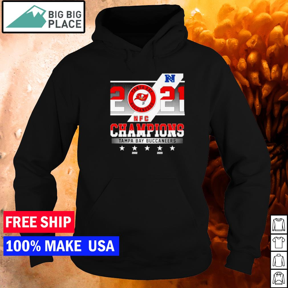 Tampa Bay Buccaneers 2021 Champions 2002 and 2020 s hoodie