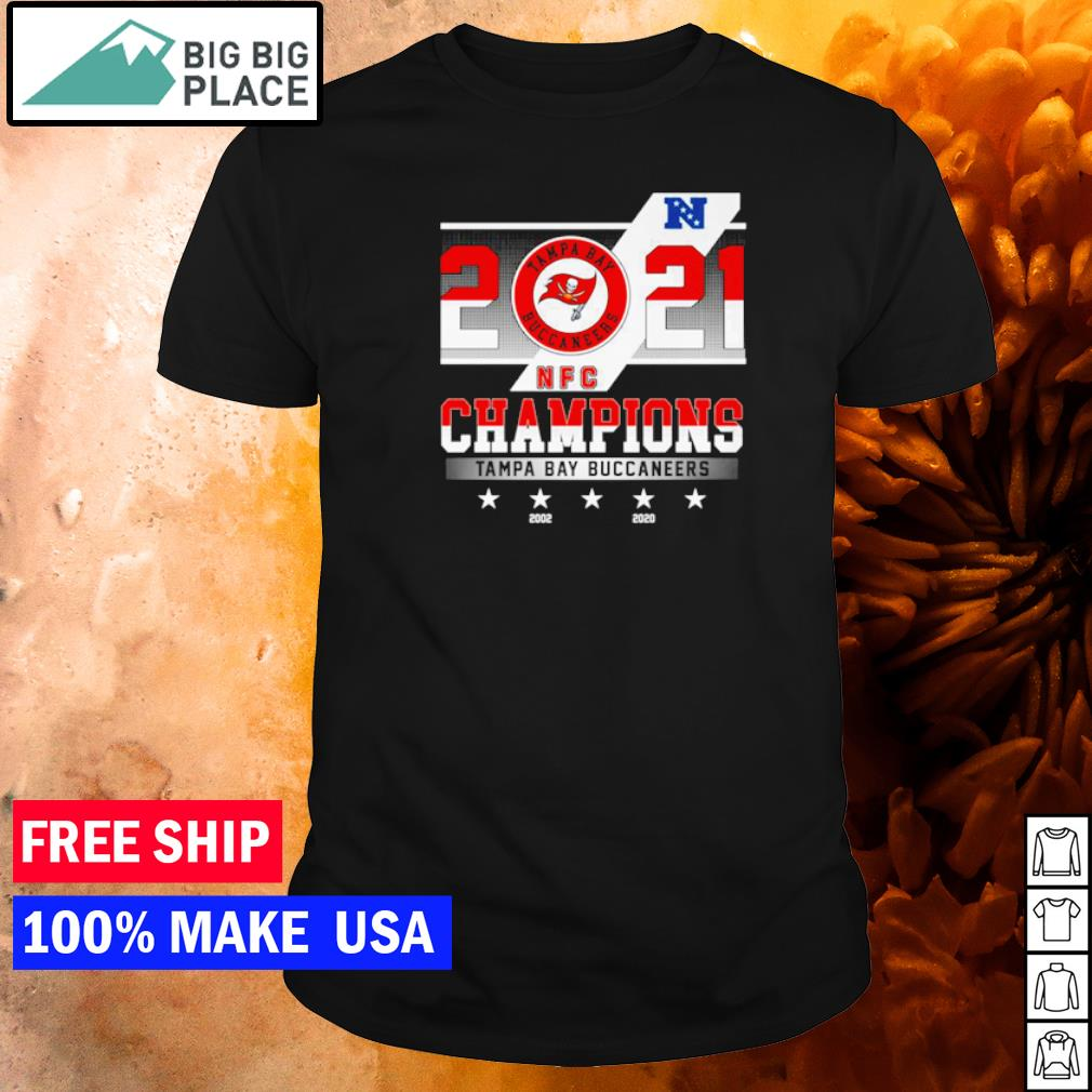 Tampa Bay Buccaneers 2021 Champions 2002 and 2020 shirt