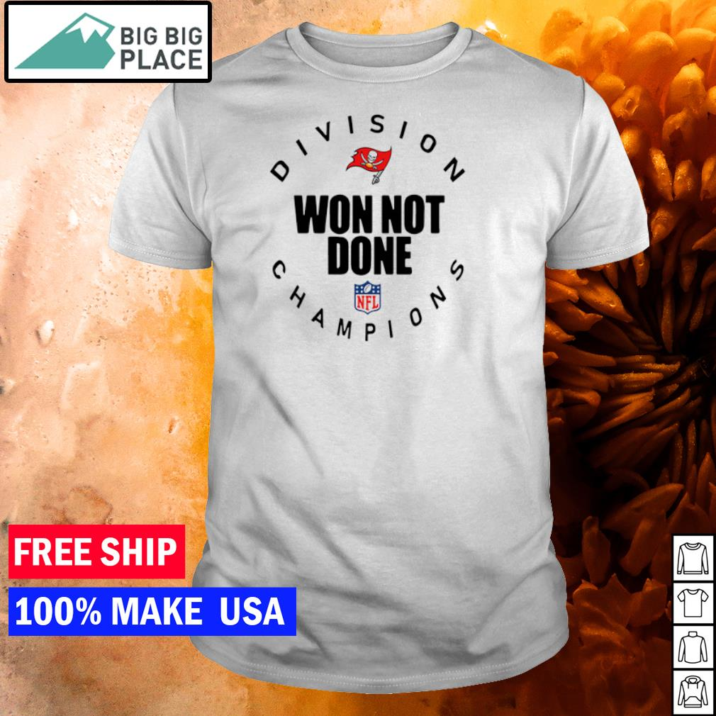 Tampa Bay Buccaneers division won not done champions NFL shirt