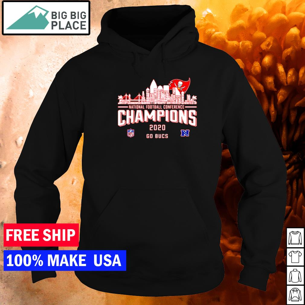 Tampa Bay Buccaneers National Conference Champions 2020 go Bucs s hoodie