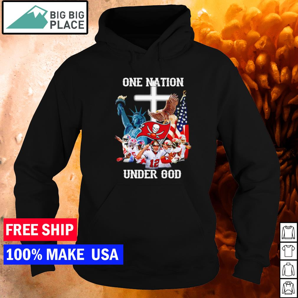 Tampa Bay Buccaneers one nation under God American Flag s hoodie