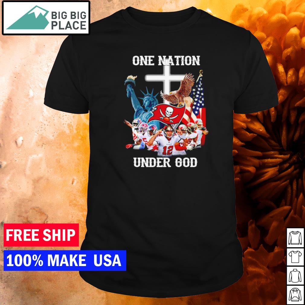 Tampa Bay Buccaneers one nation under God American Flag shirt
