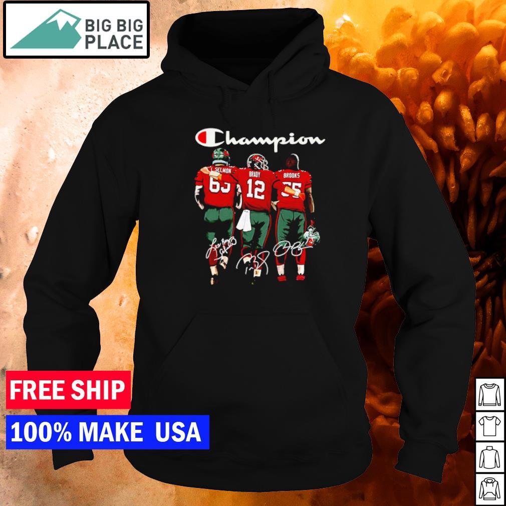 Tampa Bay Buccaneers Selmon Brady and Brooks champion signature s hoodie