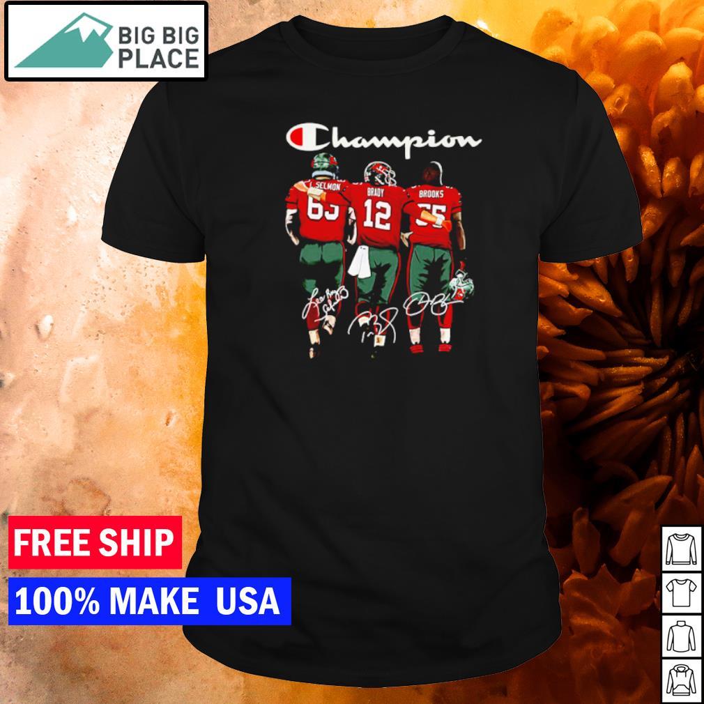 Tampa Bay Buccaneers Selmon Brady and Brooks champion signature shirt