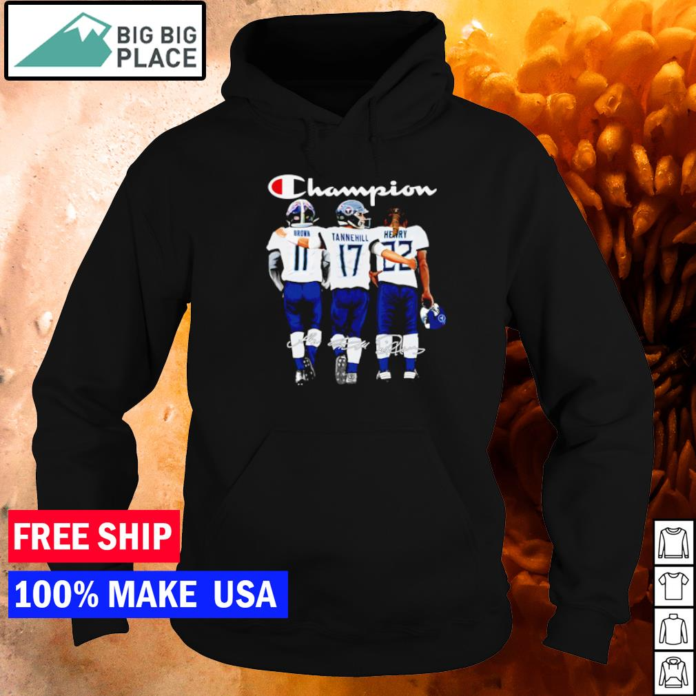 Tennessee Titans Brown Tannehill Henry champion signature s hoodie
