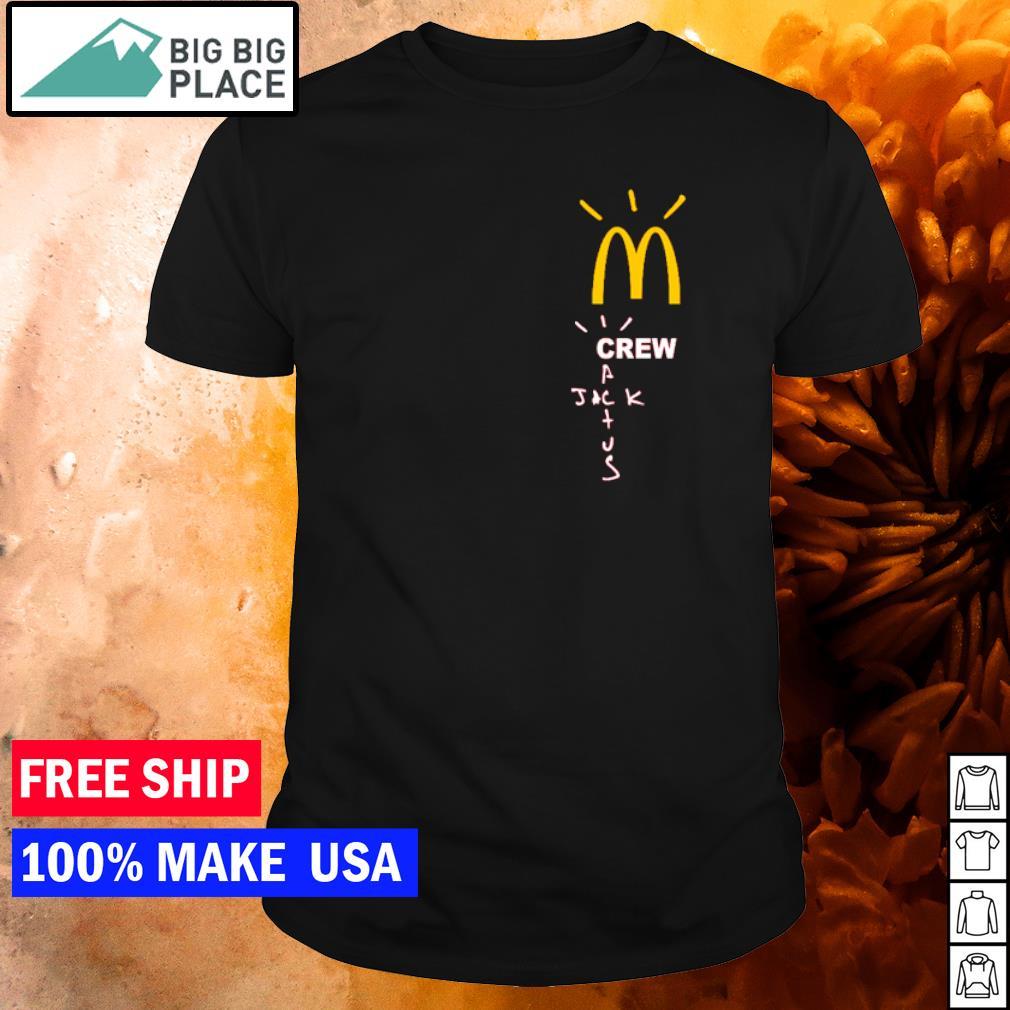 Travis Scott x McDonald's crew Jack cactus shirt