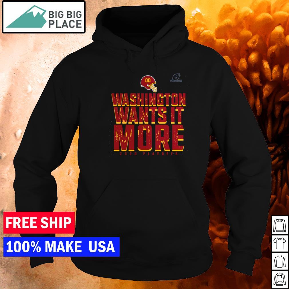 Washington Football wants it more 2020 playoffs s hoodie
