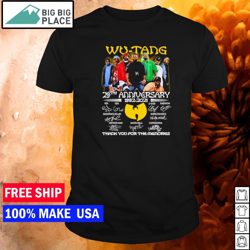 Wu-Tang 29th anniversary 1992-2021 thank you for the memories shirt
